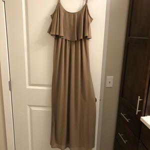 show me your mumu bridesmaid dress in dune!